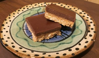 Pretend You're Good at it Peanut Butter Chocolate Freezer Bars