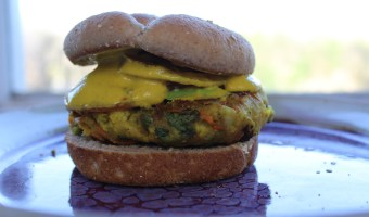 Indian Samosa Vegan Burger
