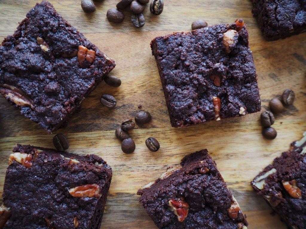 Chocolate, Coffee and Pecan Vegan Brownies and Becoming Awake