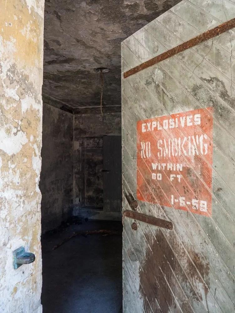 Angel Island Battery Wallace Explosives