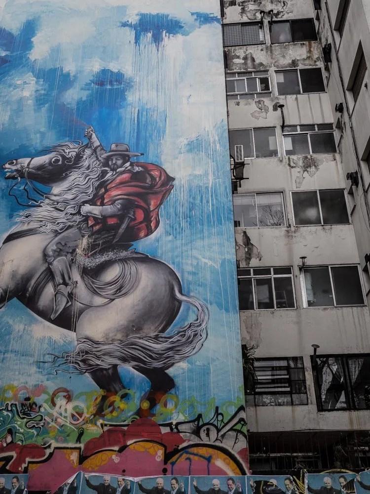 Buenos Aires Street Art Horse Mural. Located in the Los Colegiales neighborhood of Buenos Aires