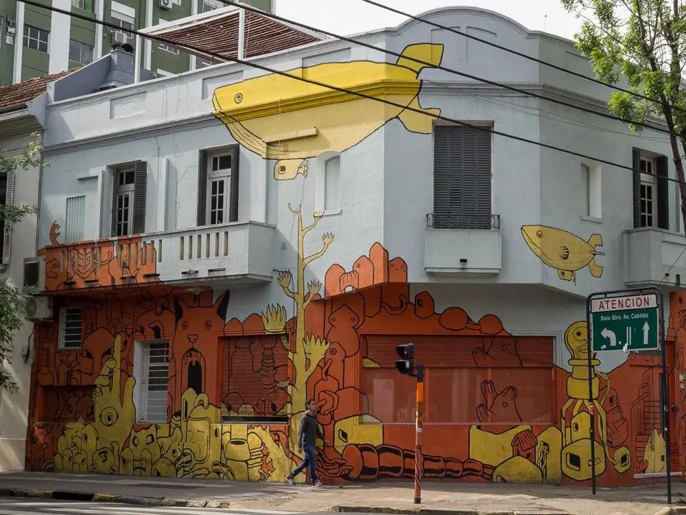 Buenos Aires Street Yellow Submarine