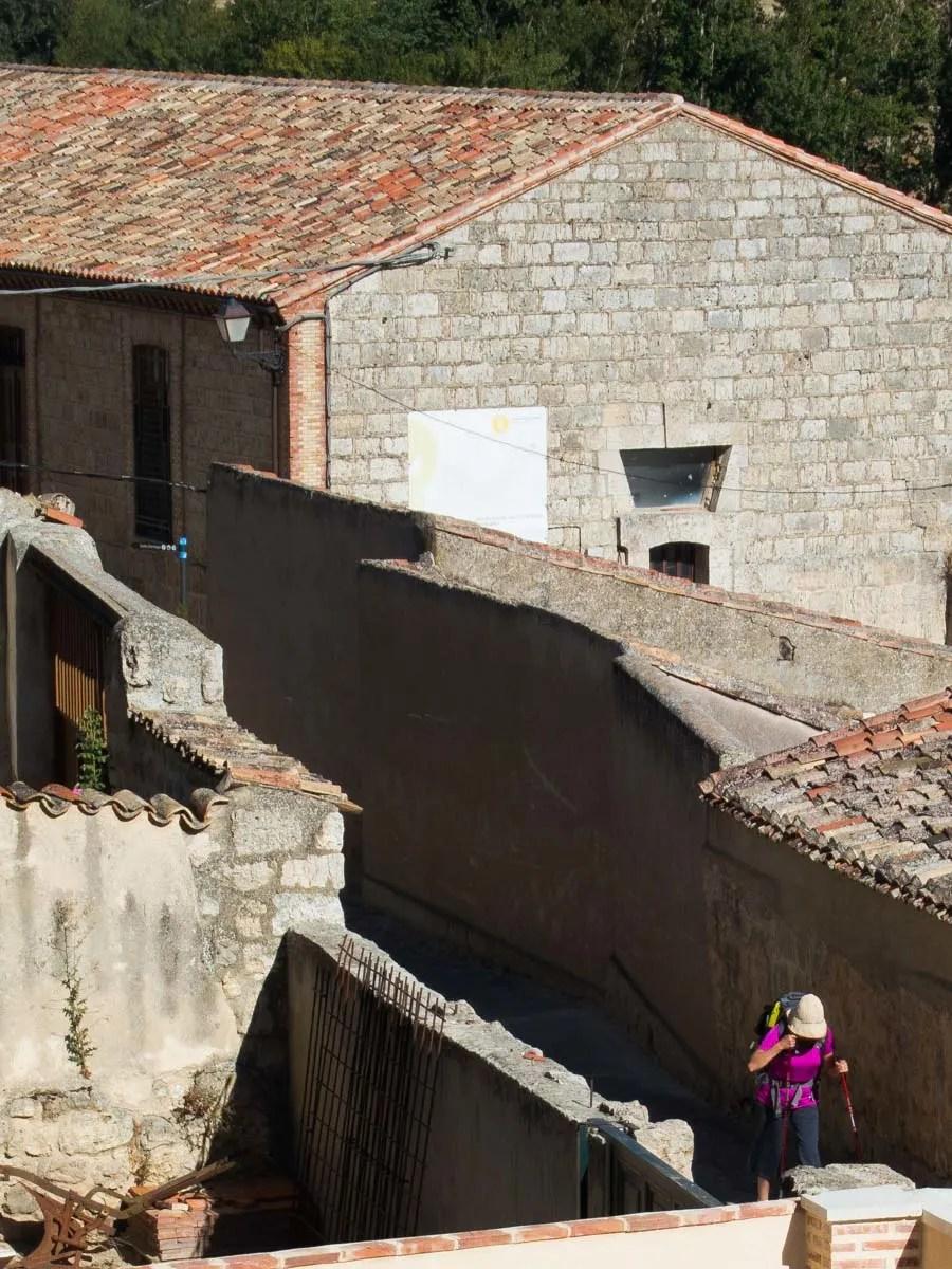 Female Walking the Camino de Santiago Solo