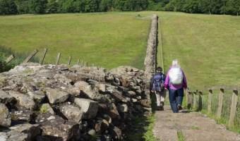 Hadrian's Wall hiking near Birdoswald