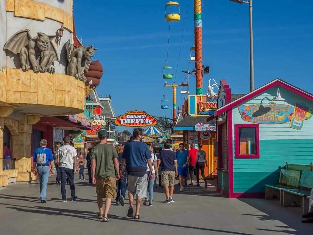 Places to go in Santa Cruz: Beach Boardwalk