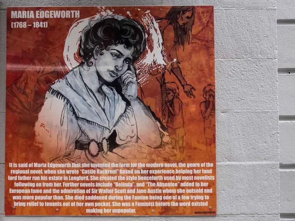 Ireland Dublin Icon Walk Maria Edgworth