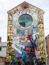 Belfast Downtown Street art ICTU