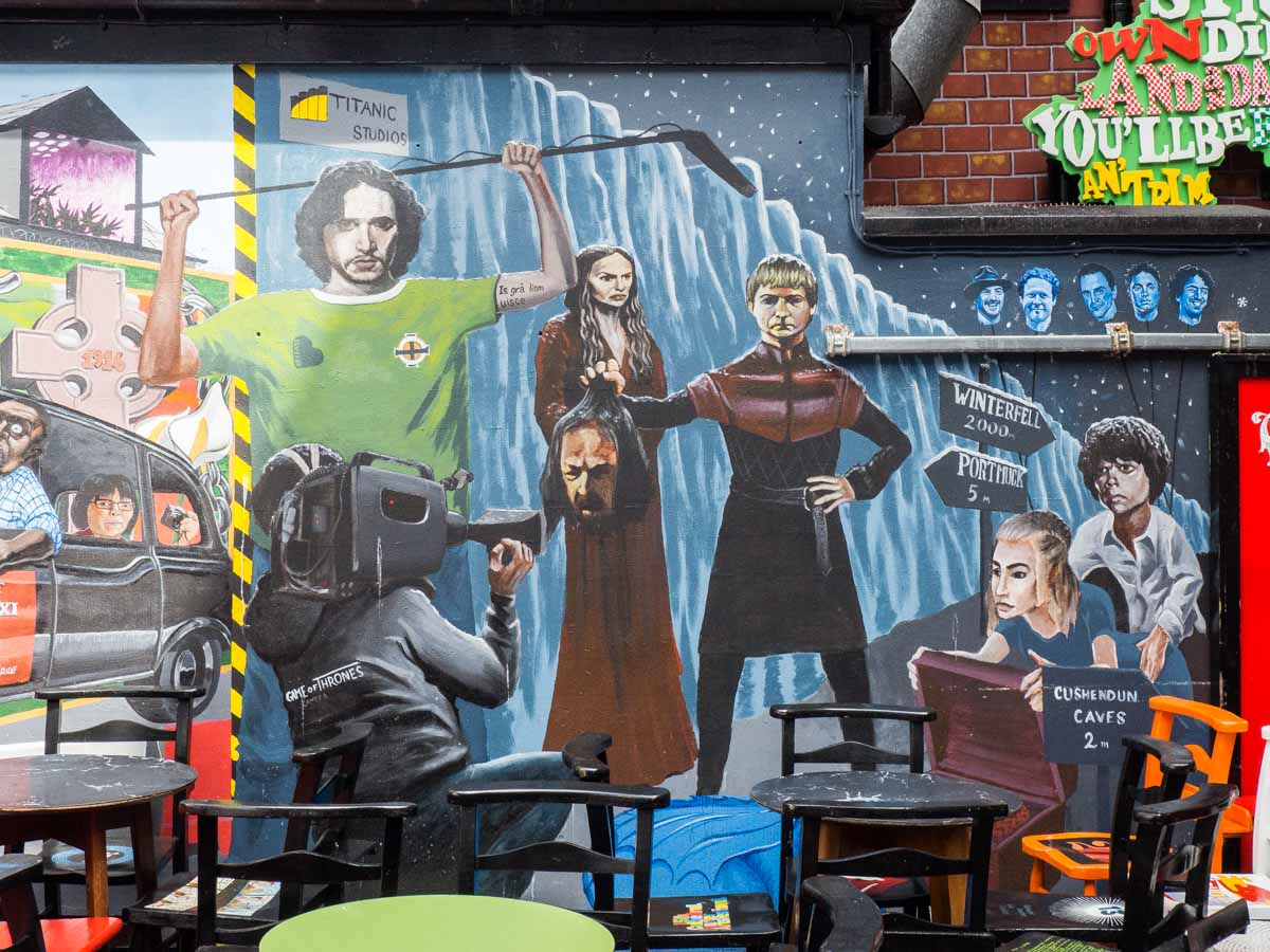 Downtown Belfast street art Game of Thrones