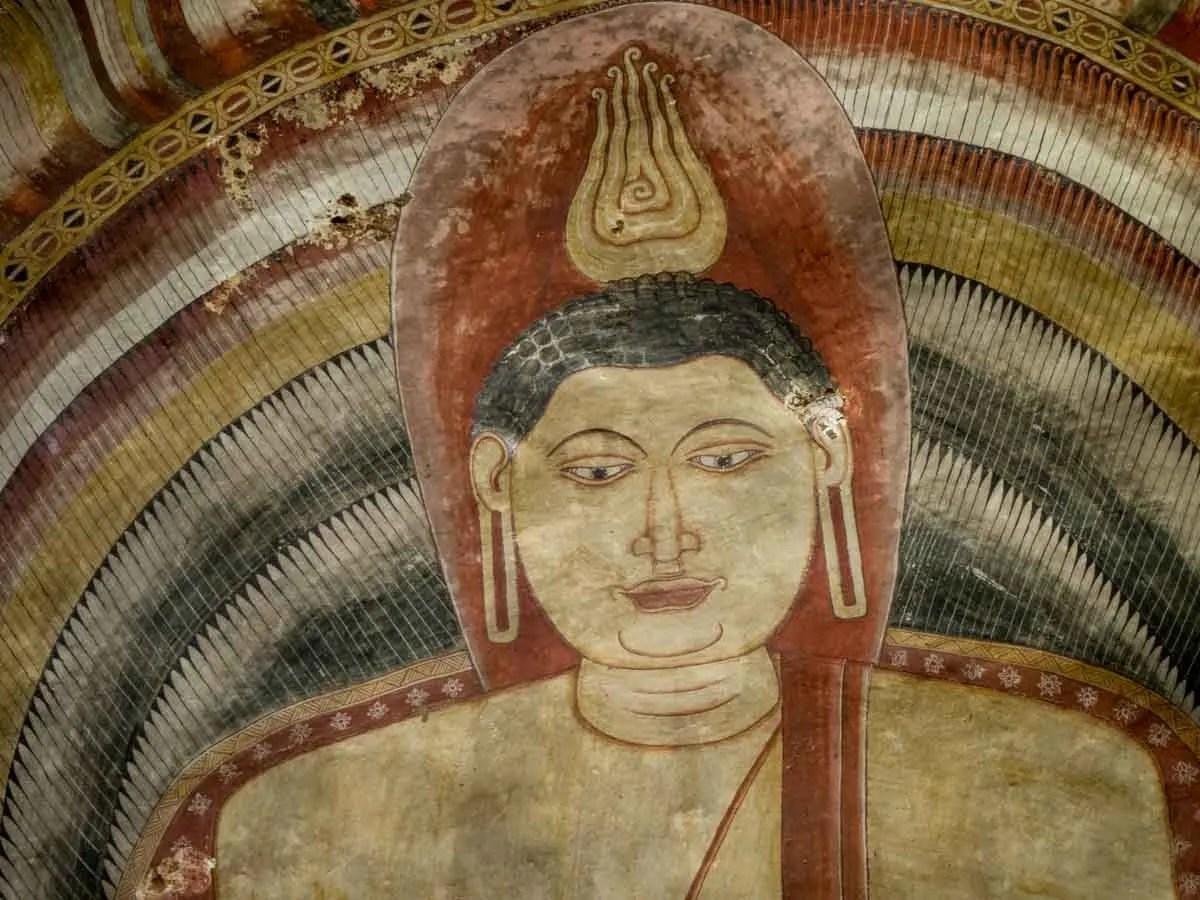 Sri Lanka Golden Triangle Dambulla Caves Ceiling