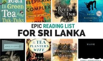 Epic reading list for fifteen books set in Sri Lanka