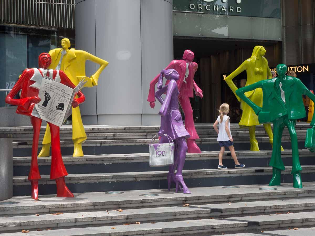 ION Orchard Lane Sculptures Best places to visit in Singapore in 3 days