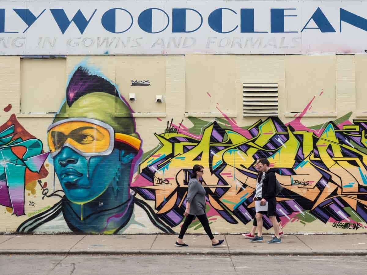 Ski Goggles mural Wicker Park Chicago street art
