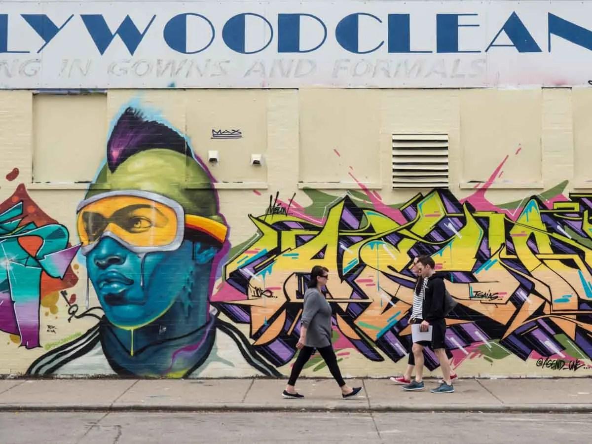 Ski Goggles mural Wicker Park Chicago street art