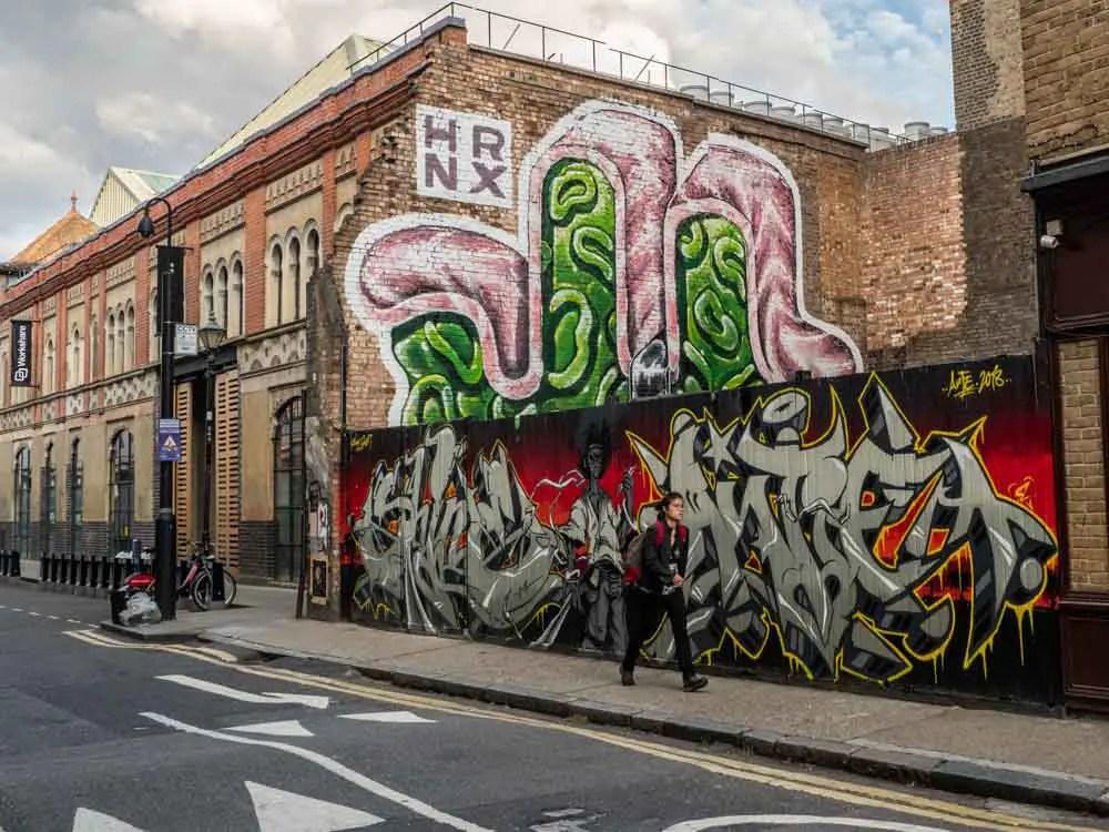 Brick Lane mural by HRNX
