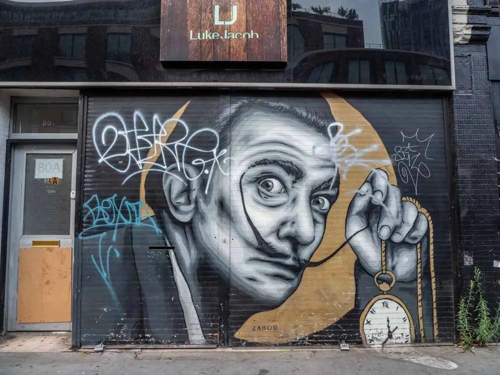 Brick lane mural by Zabou
