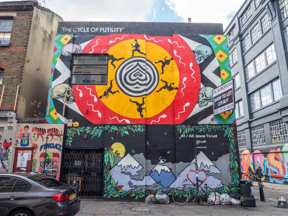 Shoreditch Mural Cycle of Futility