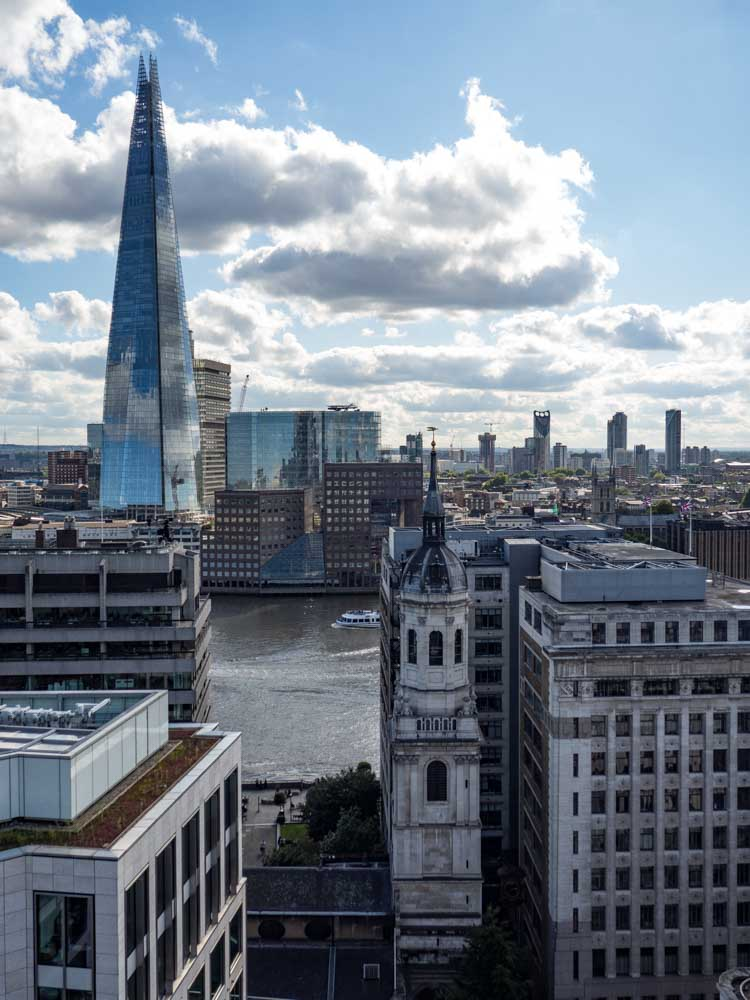 View of the Shard from the Monument London