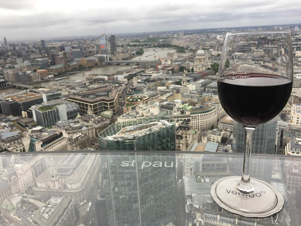 The London Views: Vertigo 42 Bar