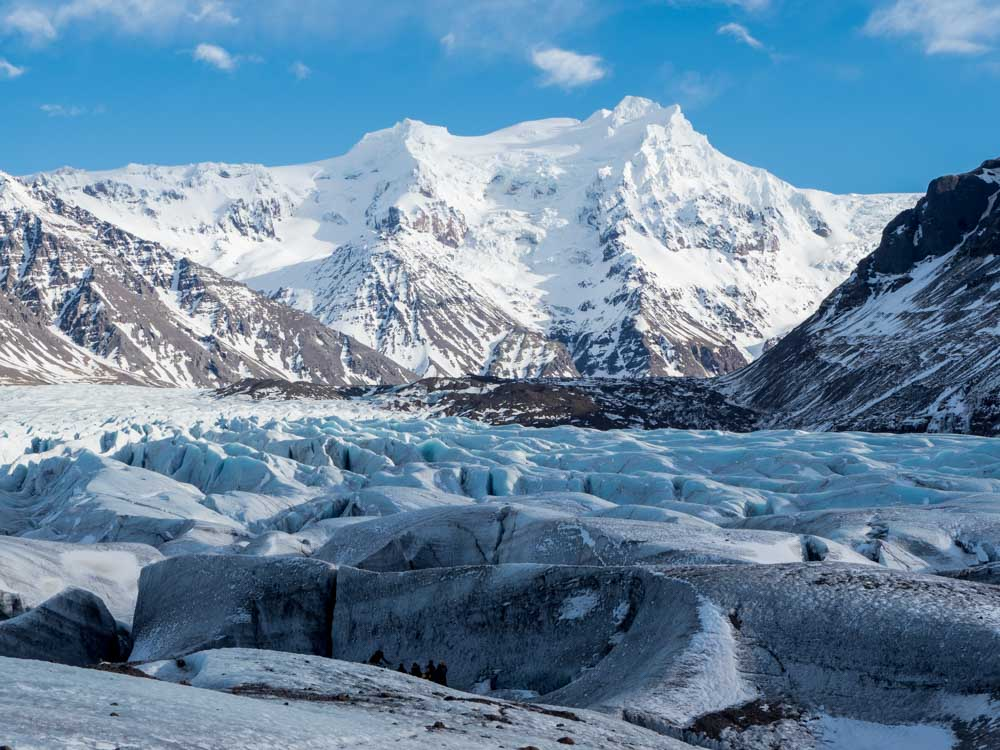 Iceland in winter: Svinafellsjokull glacier