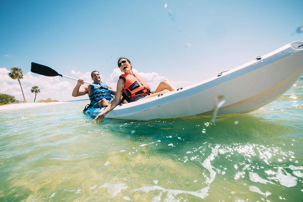 Activities in Panama City Beach: kayaking fun
