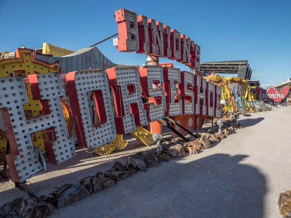 Best of downtown Las Vegas: Neon Sign Museum Binnions Horseshoe