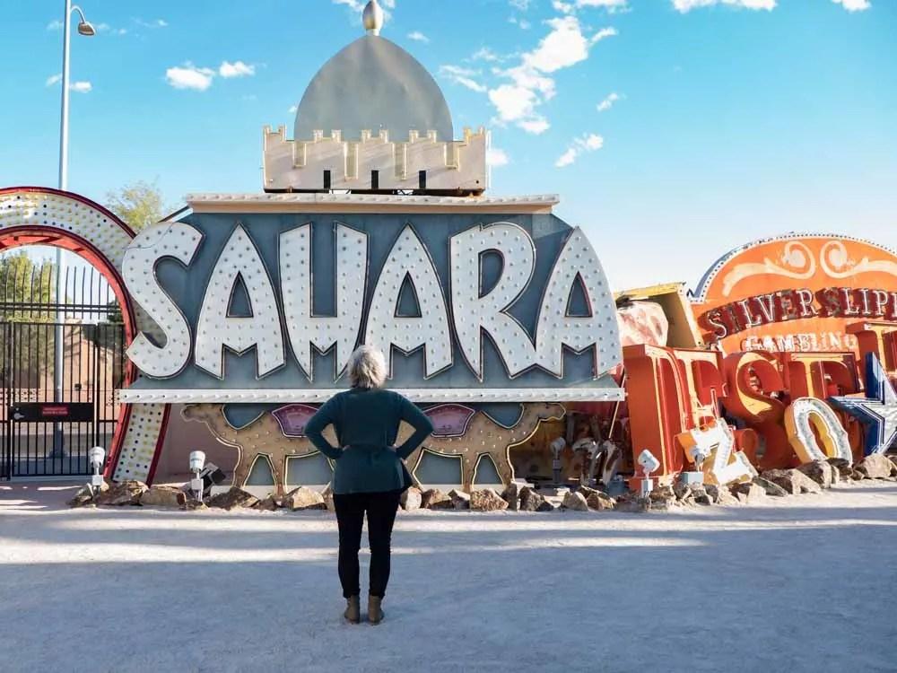 Las Vegas Sahara sign from Neon Museum