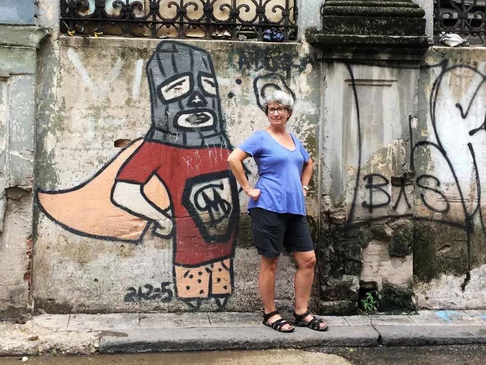 Super Hero Street Art in Cuba