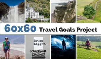 Wayfaring Views 60x60 Travel Goals Project with a bucket list of destinations