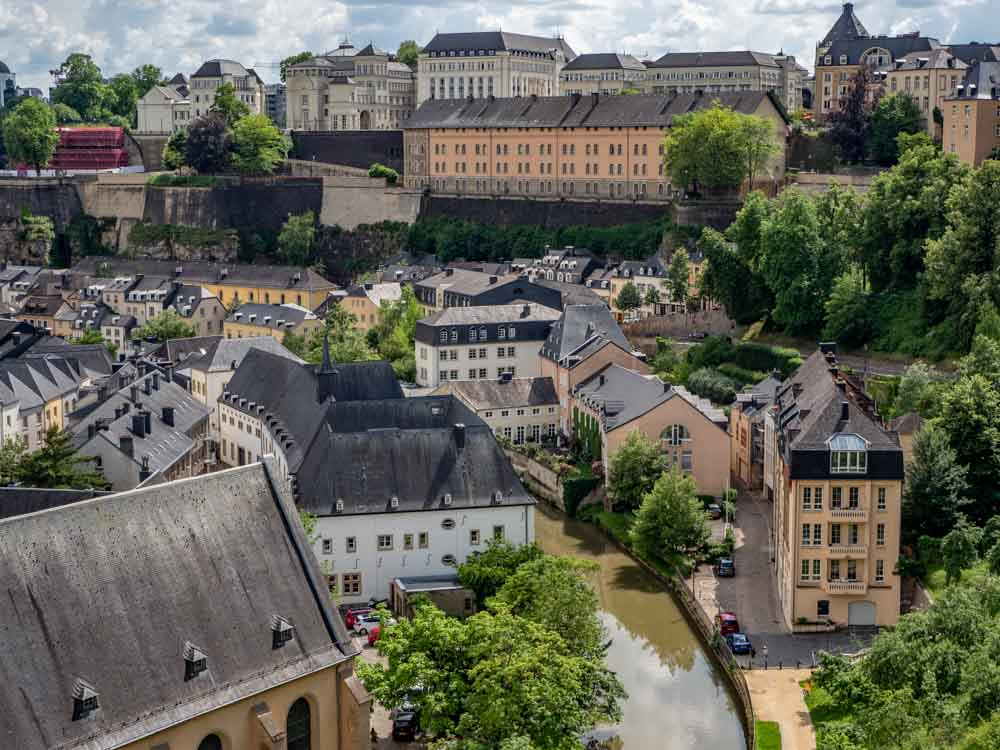 Luxembourg View of Old Town