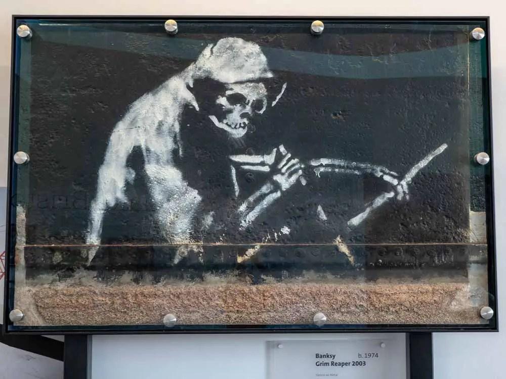 Bristol's Banksy Grim Reaper