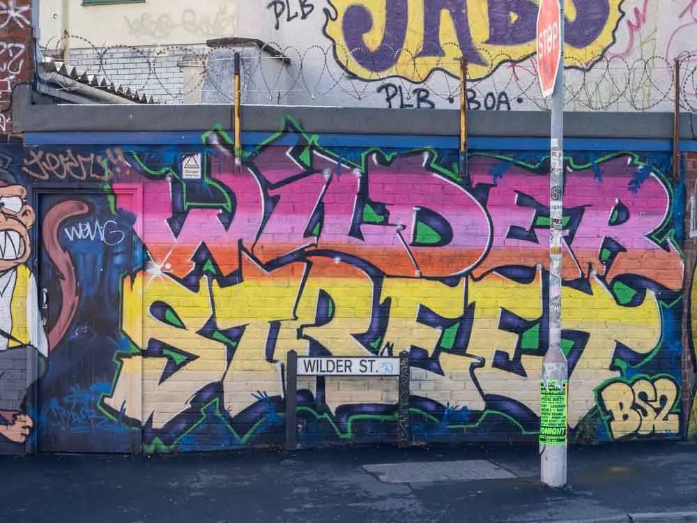 Bristol graffiti in Stokes Croft on Wilder Street by BS2