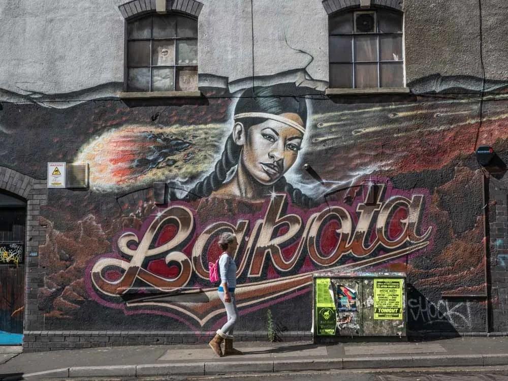 Bristol Stokes Croft mural: Lakota