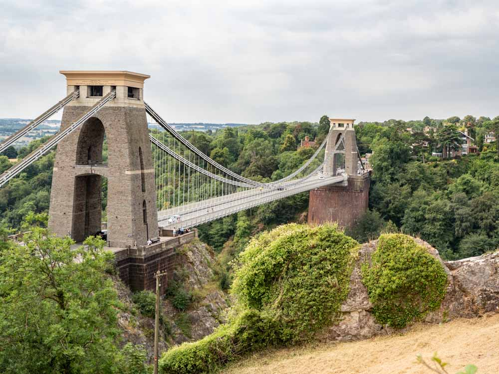 What to do in Bristol- see Clifton Bridge over Cheddar Gorge