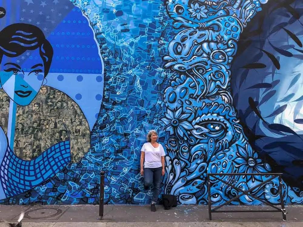 Street art in Belleville Paris France