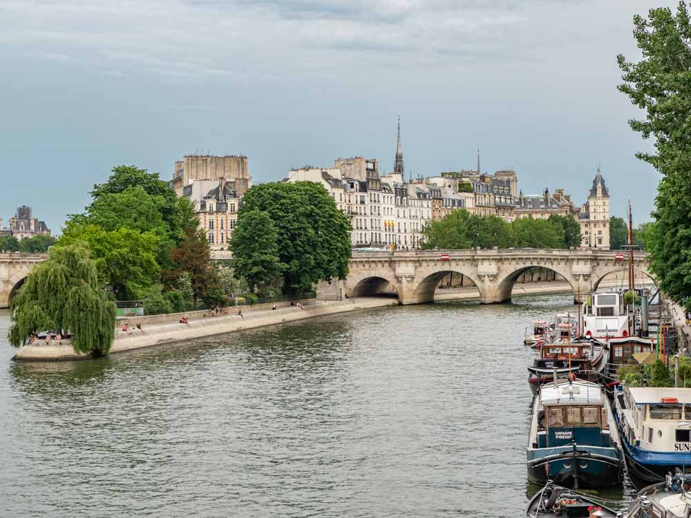 Four Days in Paris: View of Ile de la Cite