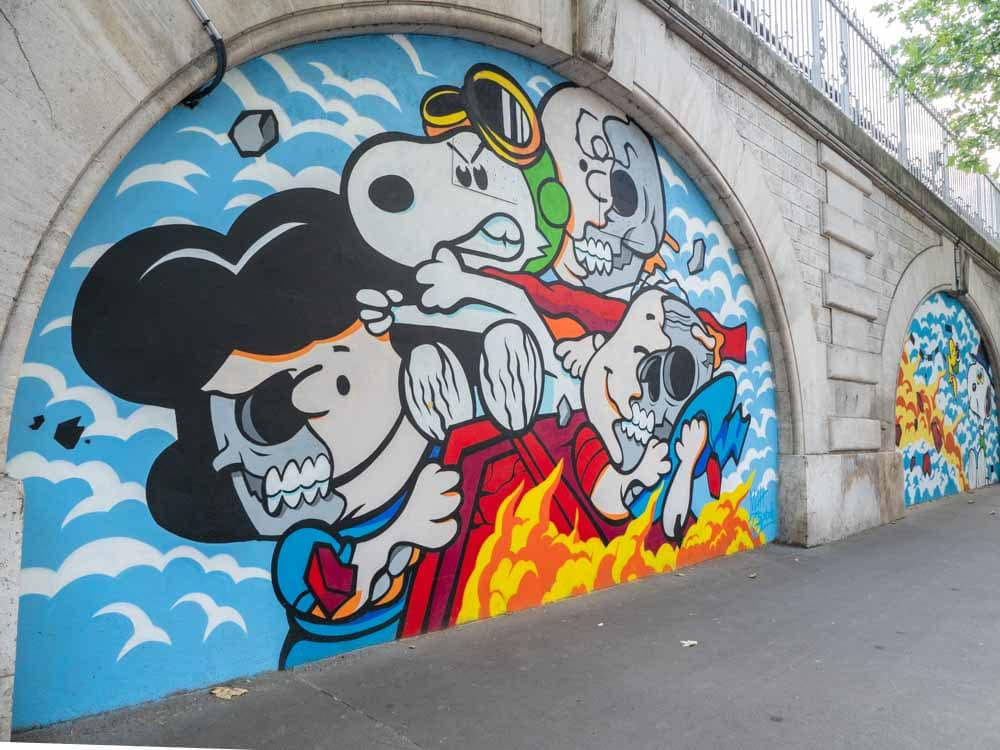 13th Arrondissement Paris mural Peanuts