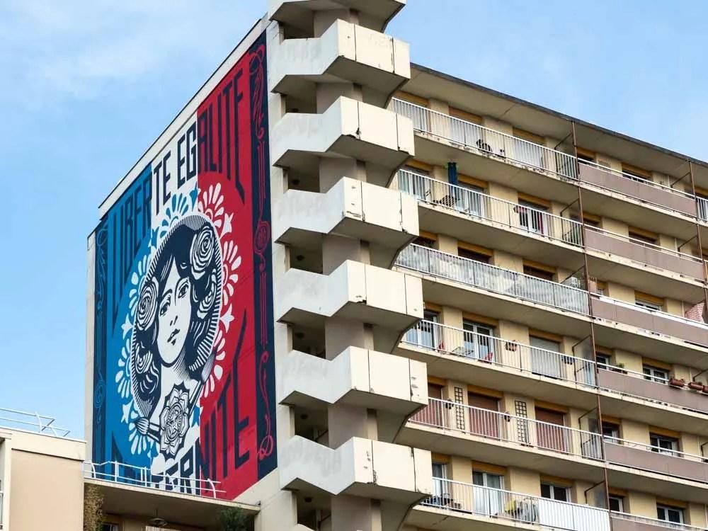 Paris mural Shepard Fairey 13th arrondissement