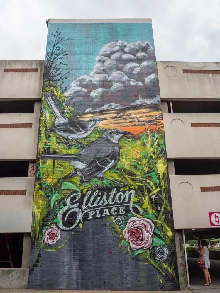 Nashville Elliston garage mural exterior