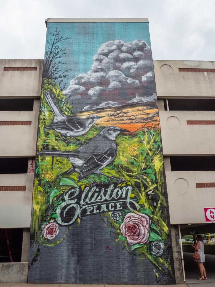 Nashville Elliston garage mural exterior