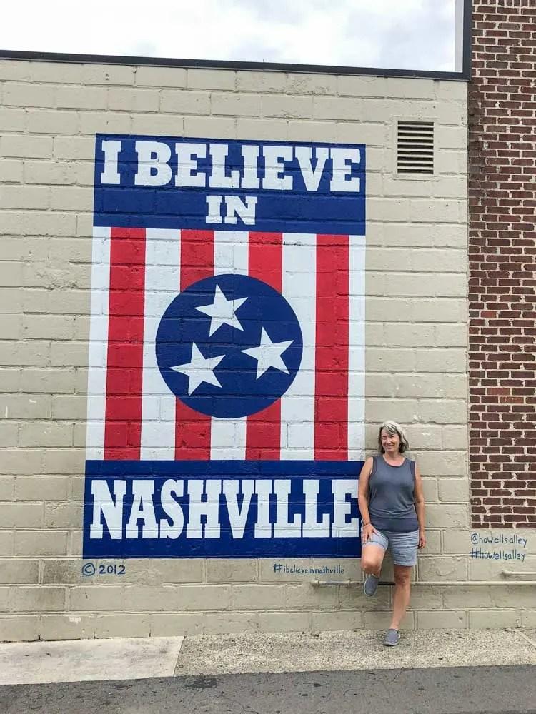 I Believe in Nashville mural selfie