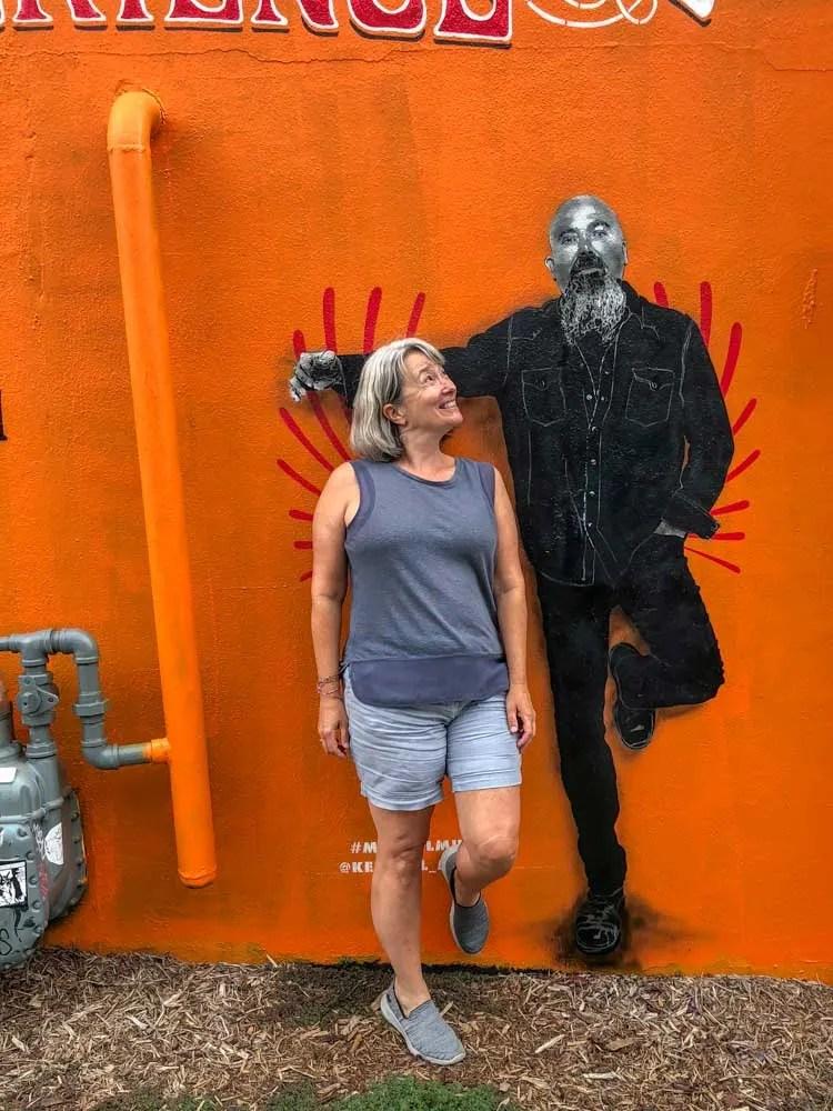 Boyfriend mural Elliston garage