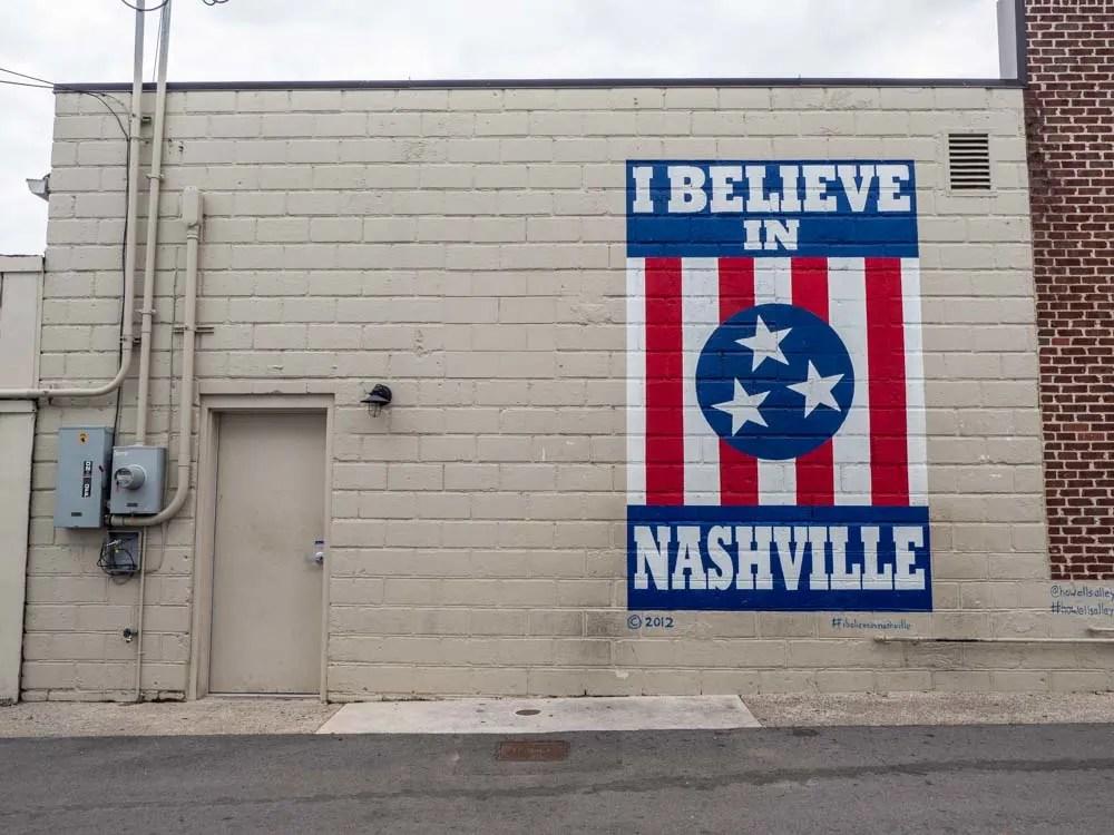 I Believe in Nashville Murals