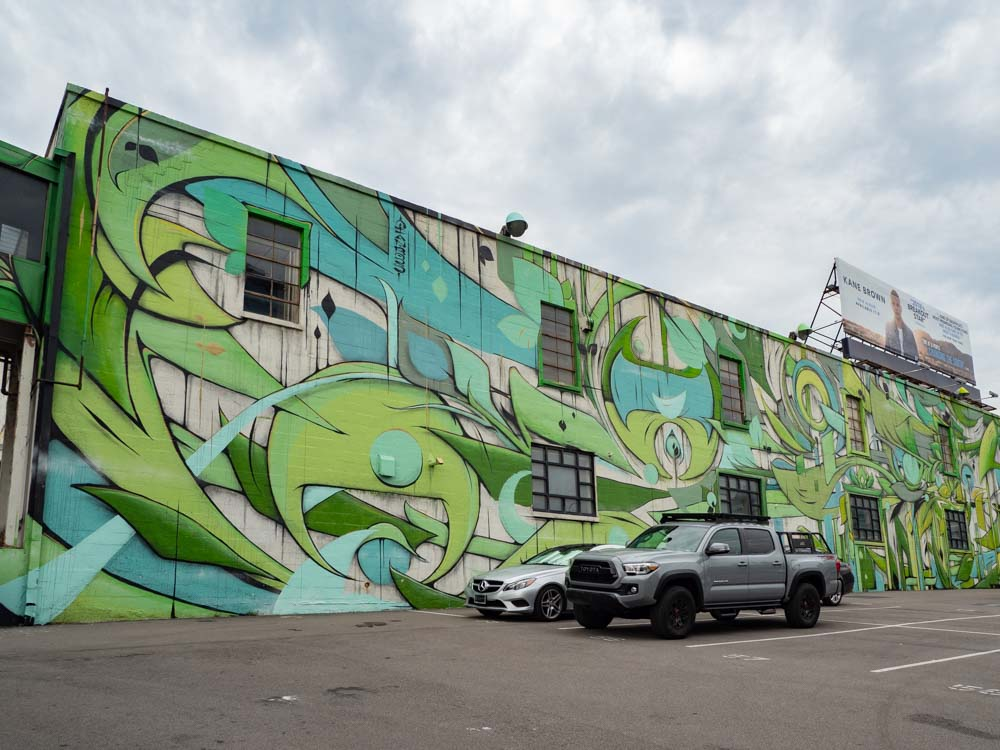 Ian Ross mural in The Gulch
