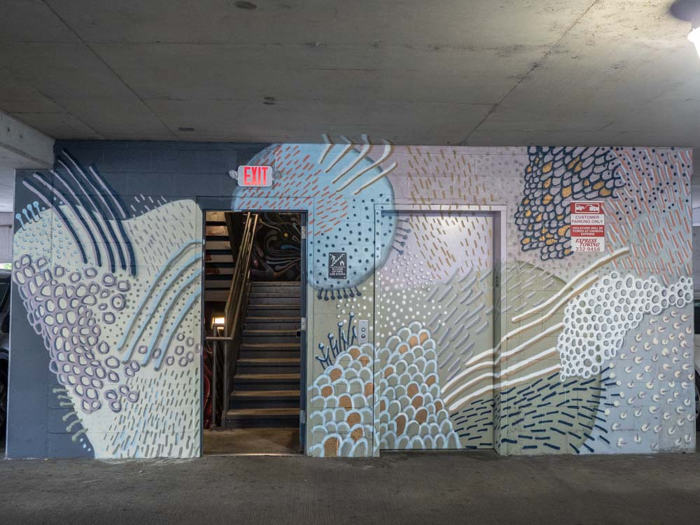 Tess Erlenborn mural in Elliston garage Nashville