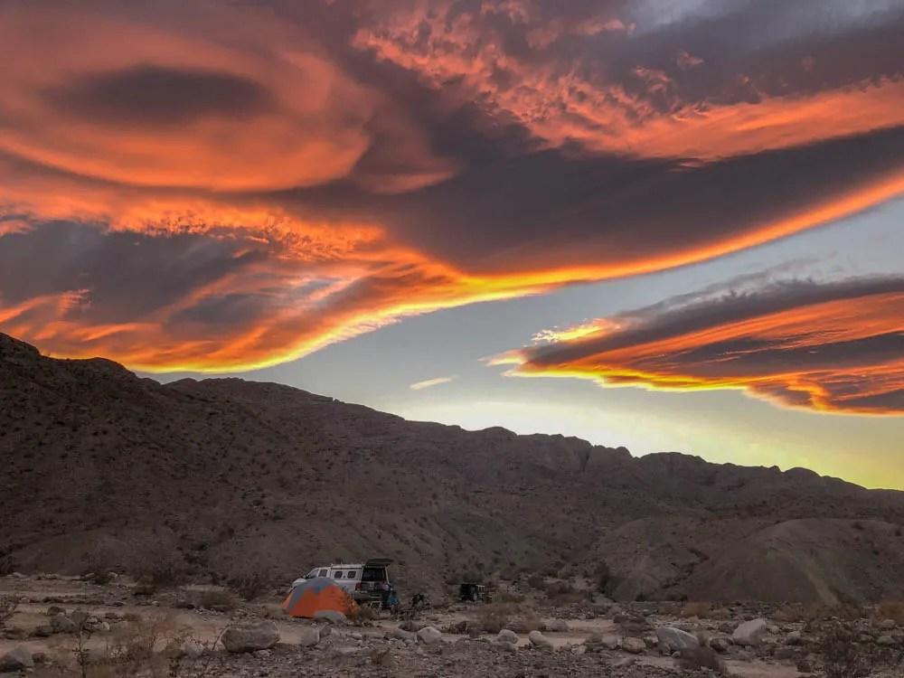 Sunset in Anza Borrego