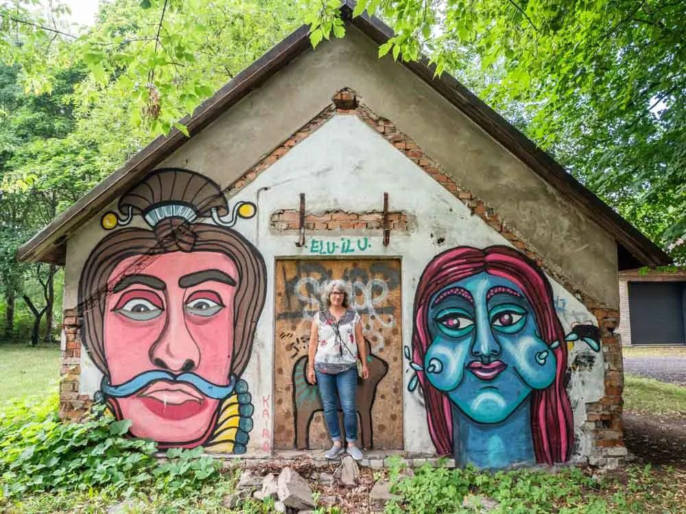 Tartu Soviet Cold War Shelter street art mural