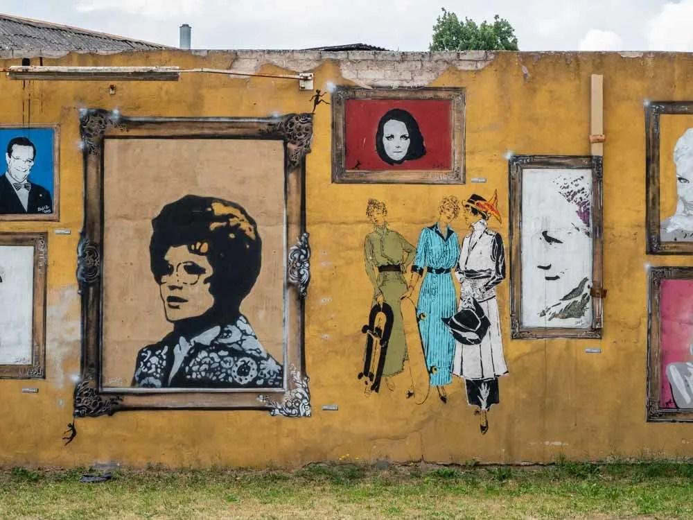 Tartu street art- Karlova portraits by Bach