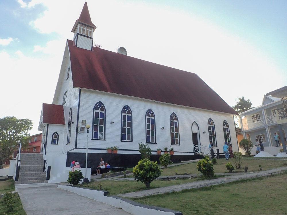 First Baptist Church San Andrés Island, view from exterior