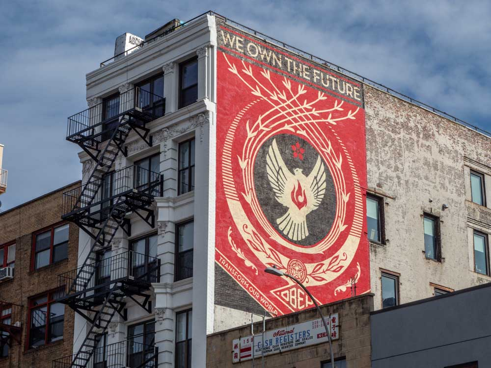 NYC mural Shepard Fairey Bowery