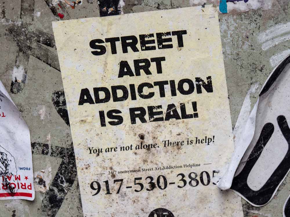 Street Art Addiction is Real sticker